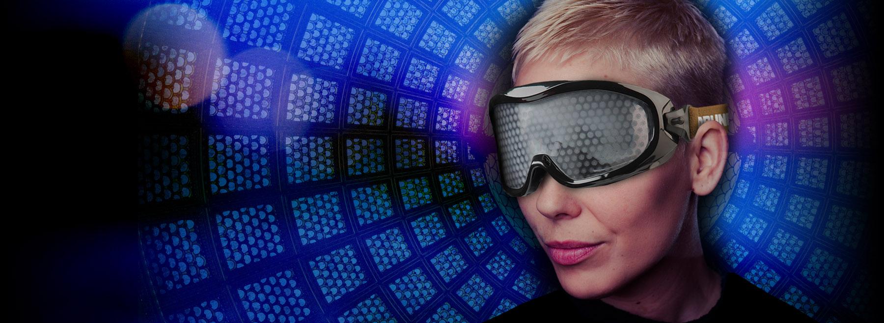 Brýle simulující účinky drog a alkoholu